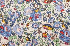 Liberty tana lawn  Felicite Hello Kitty printed in by lilymeru, $11.50