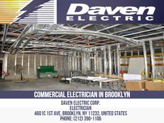 The services of commercial electricians that they can offer to their customers are important and Daven Electric has a wide variety of services that we can provide to you. If you need a Commercial Electrician in Brooklyn to improve your customer satisfaction levels, the benefits include Professional Electrical Installation Services, Customer satisfaction, Enhanced customer satisfaction Daven Electric Corp. Electrician 4601c 1st Ave, Brooklyn, NY 11232, United States Phone: 212-390-1106 Commercial Electrician, Professional Electrician, Electrical Installation, Business Names, Brooklyn, Improve Yourself, United States, Nyc, Phone