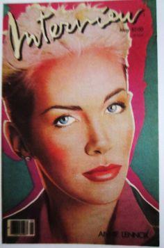 Interview Magazine - Annie Lennox http://trannawintour.blogspot.com/2012/07/vintage-interview-magazine-covers.html