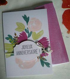 Carte anniversaire  Stampin'Up avec le kit pour cartes douces notes