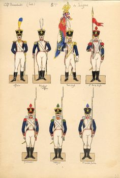 Napoleonic Wars, Jumping Jacks, Strasbourg, Soldiers, Empire, Watercolor, French, Paper, Modern