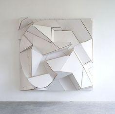 Florian Beaudrexel cardboard sculptures, Frome, 2012