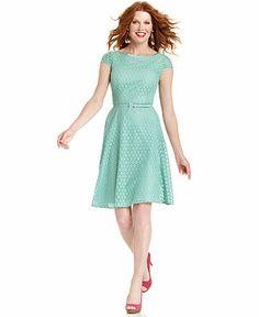 Dress, Evan Picone Cap-Sleeve Lace Dress, Macy's