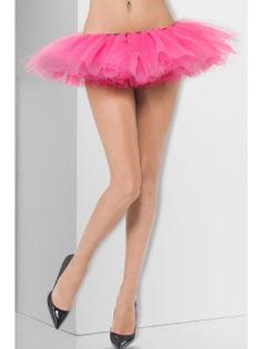 Kort tylskørt, pink