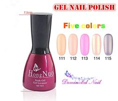 Vip Beauty Shop 2014 NEW 5 Bottles of Different Gel Nail Polish and 1bottle of Basecoat 1bottle of Topcoat High Quality Non-toxic Tasteless Soak Off Colorful Nail Art Uv Gel Polish 15ml 224- * Check out this great product.