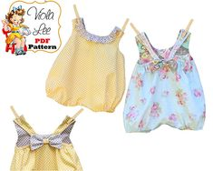 Infant Romper Pattern Infant Bubble Romper Sewing Pattern Baby Sewing Pattern pdf Girls Romper Pa - May 04 2019 at Boys Sewing Patterns, Baby Girl Patterns, Baby Clothes Patterns, Pattern Sewing, Baby Bikini, Girls Summer Outfits, Toddler Outfits, Girl Outfits, Style Baby