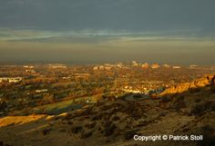 11/28/2013 - I'm bending my self-imposed rules a little to post 3 photos this Thanksgiving day.   While going for a morning run in the foothills above Boise, I made this photo of one of the inversions that is becoming all-too-common. No air quality problems in the western end of the valley!