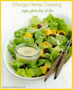 Mango Hemp Dressing...I'm on the hunt for oil-free dressing recipes, this looks like a must try. http://plantpoweredkitchen.com/mango-hemp-dressing/ #plantpoweredkitchen #dreenaburton #wfpb #vegan #oilfree #glutenfree #plantbased #cleaneating #saladdressing #plantstronghealthandfitnesswithmelanie