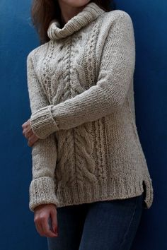 Pattern Store – The Gift Of Knitting Beginner Knitting Patterns, Jumper Knitting Pattern, Knitting Designs, Knit Patterns, Sweater Design, Knit Fashion, Handmade Clothes, Cable Knit Sweaters, Sweaters For Women