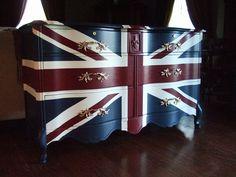 Waving Union Jack Dressers / Buffets. $1,695.00, via Etsy.