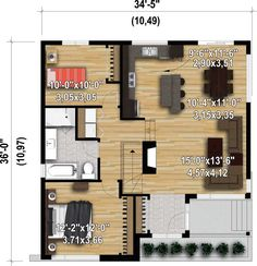 Attractive Contemporary House Plan - 80866PM   Architectural Designs - House Plans