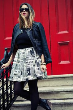 I Spy DIY: GIVEAWAY | Newspaper Print Skirt