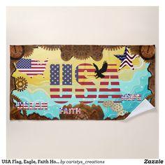 USA Flag, Eagle, Faith Hope Dream Steampunk Beach Towel Custom Beach Towels, Boys Bedroom Decor, Pool Days, Artwork Design, Usa Flag, Beach Day, Lovers Art, Print Design, Backdrops