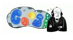Claude Bernard's Birthday [ 200 лет со дня рождения Клода Бернара] /This doodle was shown: /Countries, in which doodle was shown: France Google Doodles, Alan Turing, Google Gif, Art Google, Claude Bernard, Google Banner, Doodle Designs, Science Art, Science Doodles