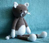 haakhooked: Gratis haakpatroon Poes Lisa Crochet Toys, Knit Crochet, Lisa, Cats And Kittens, Dinosaur Stuffed Animal, Crochet Patterns, Teddy Bear, Homemade, Pets