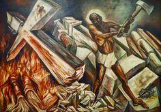 """Cristo destruye su cruz ""  Jose clemente Orozco"
