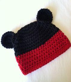 Crochet Mouse Hat Crochet Baby Hat Newborn by LakeviewCottageKids, $22.00