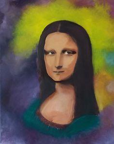 Olieverf portret 40 bij 50 Mona Lisa, Disney Characters, Fictional Characters, Disney Princess, Canvas, Artwork, Tela, Work Of Art, Auguste Rodin Artwork