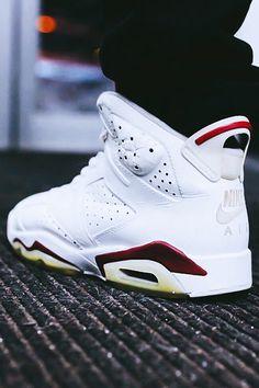 "Air Jordan 6 ""Maroon"" I want these Nike Air Jordans, Air Jordan Sneakers, Jordans Girls, Jordan Shoes, Jordan Vi, Jordans Sneakers, Fly Shoes, Sock Shoes, Men's Shoes"