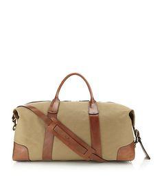 ce2d07bd2f Polo Ralph Lauren Canvas-Leather Duffle Bag Leather Duffle Bag