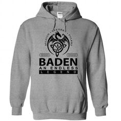 BADEN an endless legend - #baby gift #food gift. GET YOURS  => https://www.sunfrog.com/Names/baden-SportsGrey-73341393-Hoodie.html?id=60505