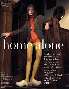 home alone: mina cvetkovic by dario catellani for interview germany march 2015 | visual optimism; fashion editorials, shows, campaigns & more!