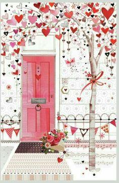 43 ideas for wallpaper love heart paint Illustration Mode, Heart Painting, I Love Heart, Happy Heart, Jolie Photo, Heart Art, Happy Valentines Day, Clip Art, Prints