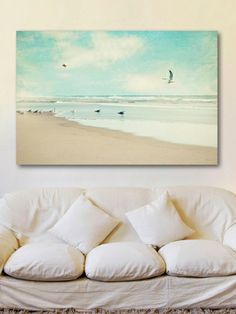 Morning Beach (Canvas) by Marmont Hill at Gilt #marmonthill #wallart #homedecor