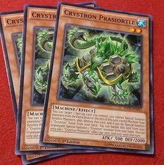 x3 COMMON Crystron Prasiortle Yugioh Monster Card INOV-EN017 NM 2016 1st edition