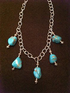 Fux Turquoise necklace. Nuggets look heavy but it is very light weight! SOLD
