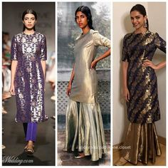 Image may contain: 3 people, people standing and text Saree Jacket Designs, Salwar Designs, Kurta Designs Women, Indian Gowns Dresses, Pakistani Dresses, Pakistani Suits, Indian Attire, Indian Outfits, Indian Wear