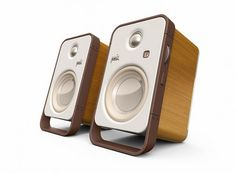 The Polk Audio Hampden is a powerful Bluetooth stereo speaker set that looks as good as it sounds.