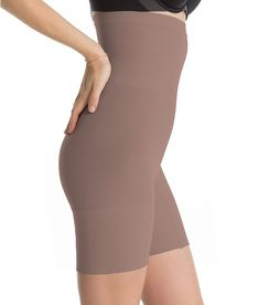 a1ec3166a5ca4 NWT SPANX 2745 Higher Power Mid-Thigh Shaping Shorts  18 TAUPE TONE S