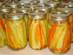 Italian Pickled Banana Peppers Recipe - Food.com   Be sure to read reviews before making these.  Use less sugar and no Hot Bath.