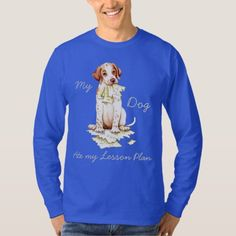 My Pointer Ate my Lesson Plan T-Shirt   pug baby, pug makeup, pug onesie #mypeoplearebetterthenyourpeople #pugpresents #gimmieallthepugglestuffs Back To School Gifts, Back To School Outfits, Komondor, Dog School, Great Dane Puppy, Dog Eating, Student Gifts, Cool Pets, Graphic Sweatshirt