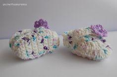 Scarpette in lana fantasia uncinetto