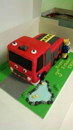 Fireman Sam cake for Ewan's 3rd Birthday