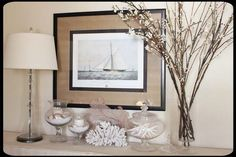 After living near the ocean for so long I feel like shells and coral have to be a part of my decor.