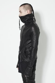 frctr:  Washed lamb leather jacket by Ovate