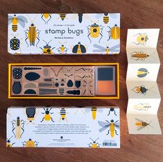 stamp bugs - Fans of crafting, specifically individuals who enjoy both stamps and insects, can now rejoice thanks to the new DIY 'Stamp Bugs' kit by. Kit Diy, Cool Bugs, Colossal Art, Science Kits, Kits For Kids, Japanese Design, Japanese Art, Ink Pads, Ink Color