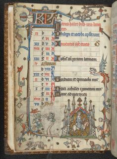 Calendar pages for May, from a Book of Hours, St Omer or Théouranne, c. 1320,