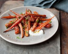 spiced almond carrots and greek yogurt | familystyle food