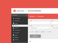 Flat Dashboard UI for Web App | User Interface Design