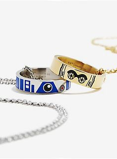 This is the BFF set you're looking for | Star Wars Droid Best Friend Ring & Necklace Set