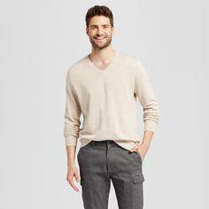 Men's V-Neck Sweater - Goodfellow & Co Oatmeal Xxl