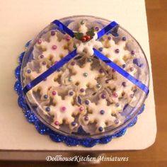 Dollhouse Miniature Handmade Food Snowflake Cookies