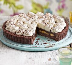 Chocolate coconut banoffee pie  dazzling dessert with bourbon biscuit base, caramel layer, creamy coconut topping and banana toffee Moderately easy Serves 10 Preparation time  1 hr 10 mins Cook time  20 mins