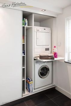 Clever Storage Ideas for Your Tiny Laundry Room. Wall Storage for Laundry Suppli… Clever Storage Ideas for Your Tiny Laundry Room. Wall Storage for Laundry [. Kitchen Corner Cupboard, Laundry Cupboard, Laundry Closet, Cupboard Storage, Cupboard Ideas, Laundry Baskets, Basement Laundry, Cupboard Drawers, Laundry Room Organization