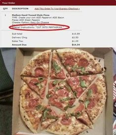 Strange pizza delivery requests  #funny #funnyshit #meme #dankmemes #memesdaily   https://badgag.com/post/funny-memes/4IjyY3C/strange-pizza-delivery-requests