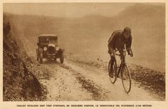 Tour de France 1926. 06-07-1926, 10^Tappa. Bayonne - Luchon. Col d'Aubisque. Odile Taillieu (1898-1979).